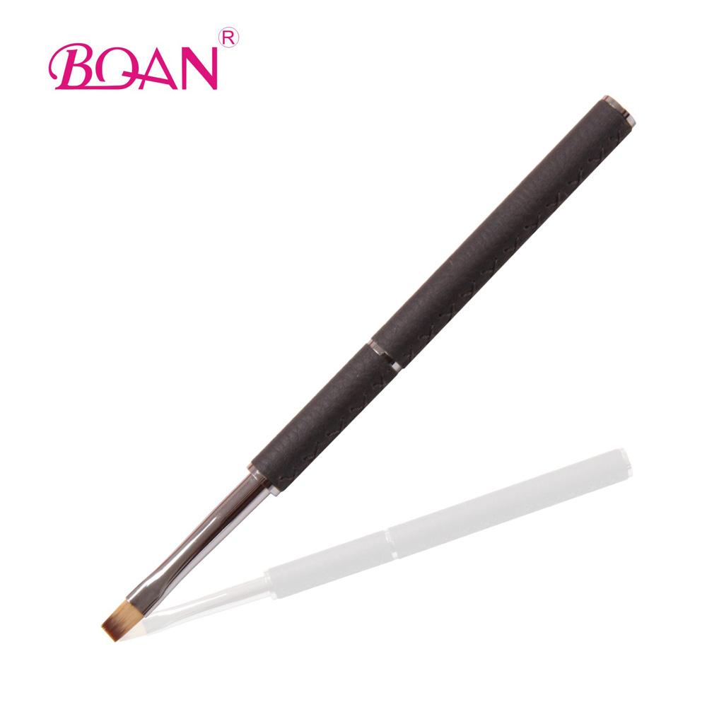 Professional Leather Metal Handle Nail Gel Brush Gel Nail Brush #6 Free shipping(China (Mainland))