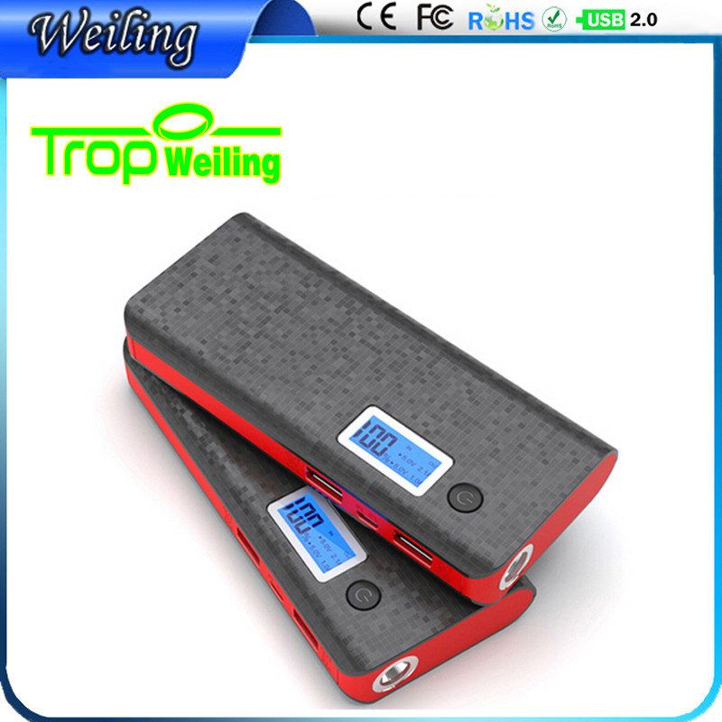 Tropweiling cute power bank diy 10000mah 18650 power bank box portable battery usb portable charger for phones