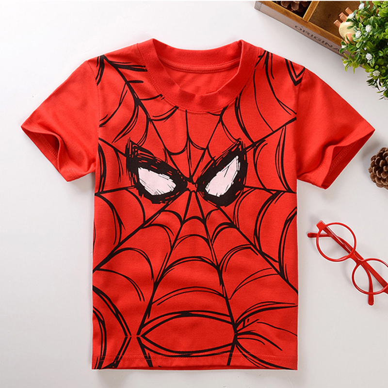 Summer Style Cotton Spiderman Boys T Shirts Kids Clothing Tee Boys Outwear Child's Clothes Cool Fashion New Arrival(China (Mainland))