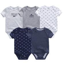 высокое качество, детский комбинезон с коротким рукавом из хлопка, с o-образным вырезом 0-12м, одежда для новорожденных мальчиков и девочек, ко...(China)