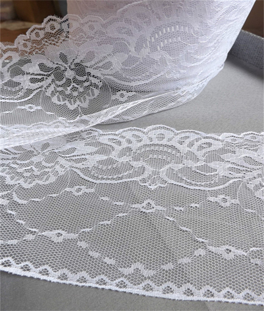 Width 132mm Beautiful 5 yards 6 color Embroidered Net Lace Trim Garment ribbon headband wedding party