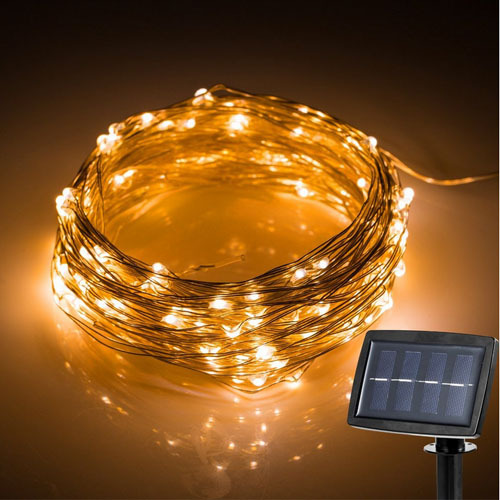 150 leds Outdoor LED String Fairy Light Solar Power Courtyard Wedding Party Garden Christmas Light Decoration.solar garden light(China (Mainland))