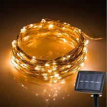 150 leds Outdoor LED String Fairy Light Solar Power Courtyard Wedding Party Garden Christmas Light Decoration.solar garden light(China (Mainland))
