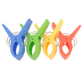 4pcs Durable Large Plastic Clothespins Clothes Pegs Pins in Different Colors Red Yellow Green Blue