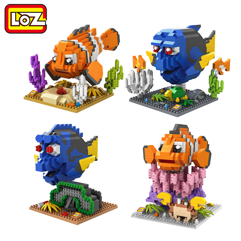 LOZ Finding Dory Nemo Figure Blocks Toy No Box LOZ Diamond Building Blocks Fish Toy Model 14+(China (Mainland))
