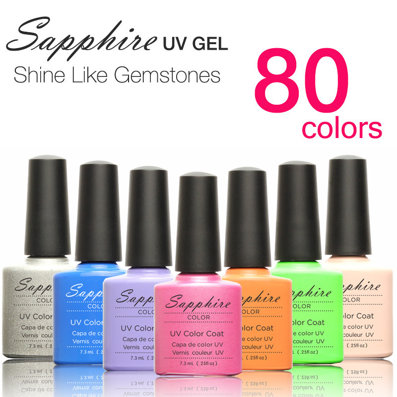Choose One Sapphire Nail Gel Newest 159 Fashion UV Gel Polish 7.3 ML Nail Gel Shellac(China (Mainland))