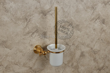 Ванная аксессуары сплошной латунь золото плита туалет кисть с чаша северной америке стиле St