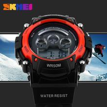 Brand Luxury SKMEI Men Watches Military Watches LED Solar Electronics Sport Watch 50m Waterproof Relogio Masculino