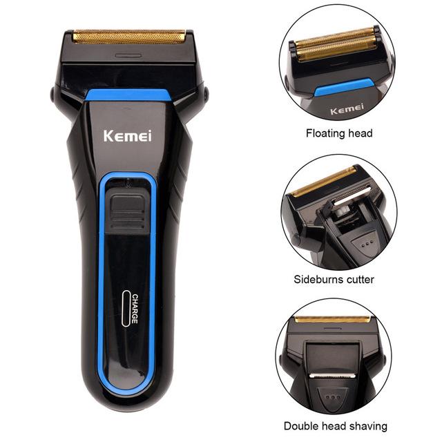 2016 Kemei аккумуляторная электробритвы с сабельная лезвия глав мужская бритвенный ...