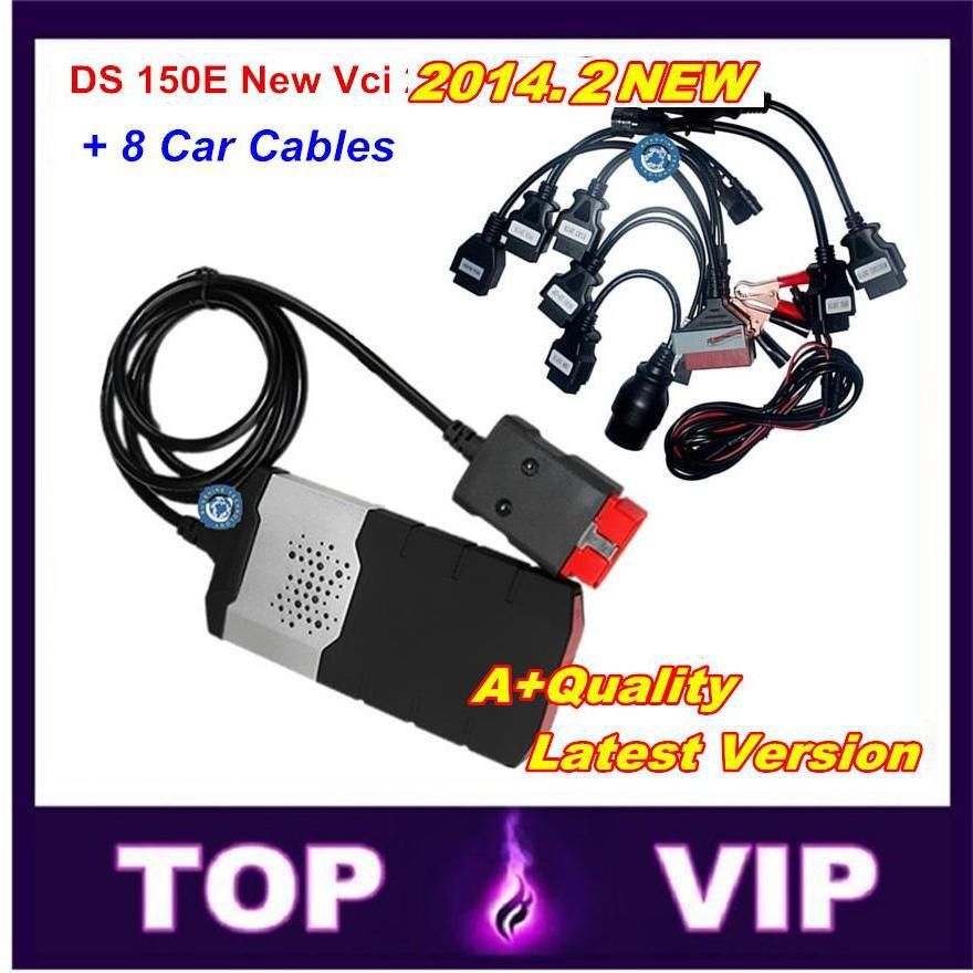 Low price TCS CDP PRO DS150 no bluetooth + 8 car cables full set vehicle Diagnostic Tool 2014.2 free Active for car/truck(China (Mainland))
