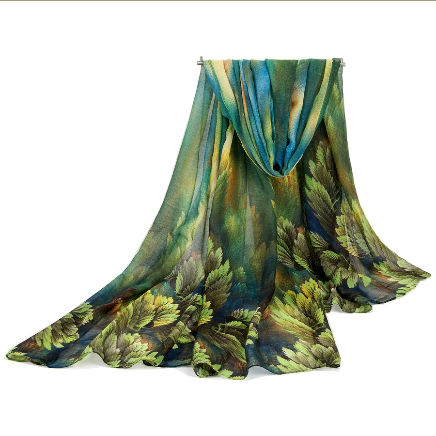 Autumn and Winter desigual scarf women fashion long echarpe leaves printed scarves ladies stoles warm shawls