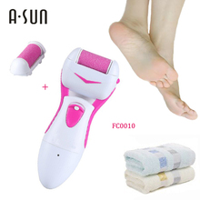 Hot sale Electric Smooth Callus Dead Skin Remover washable  Grinding Pedicure Kit Foot Care Battery Power