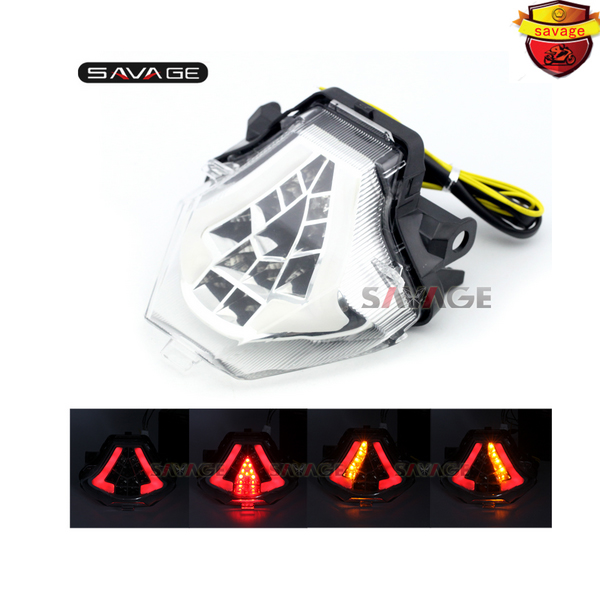 For YAMAHA YZF-R25 YZF-R3 MT-25 MT-03 MT25 MT03 Motorcycle Accessories Integrated LED Tail Light Turn signal Clear