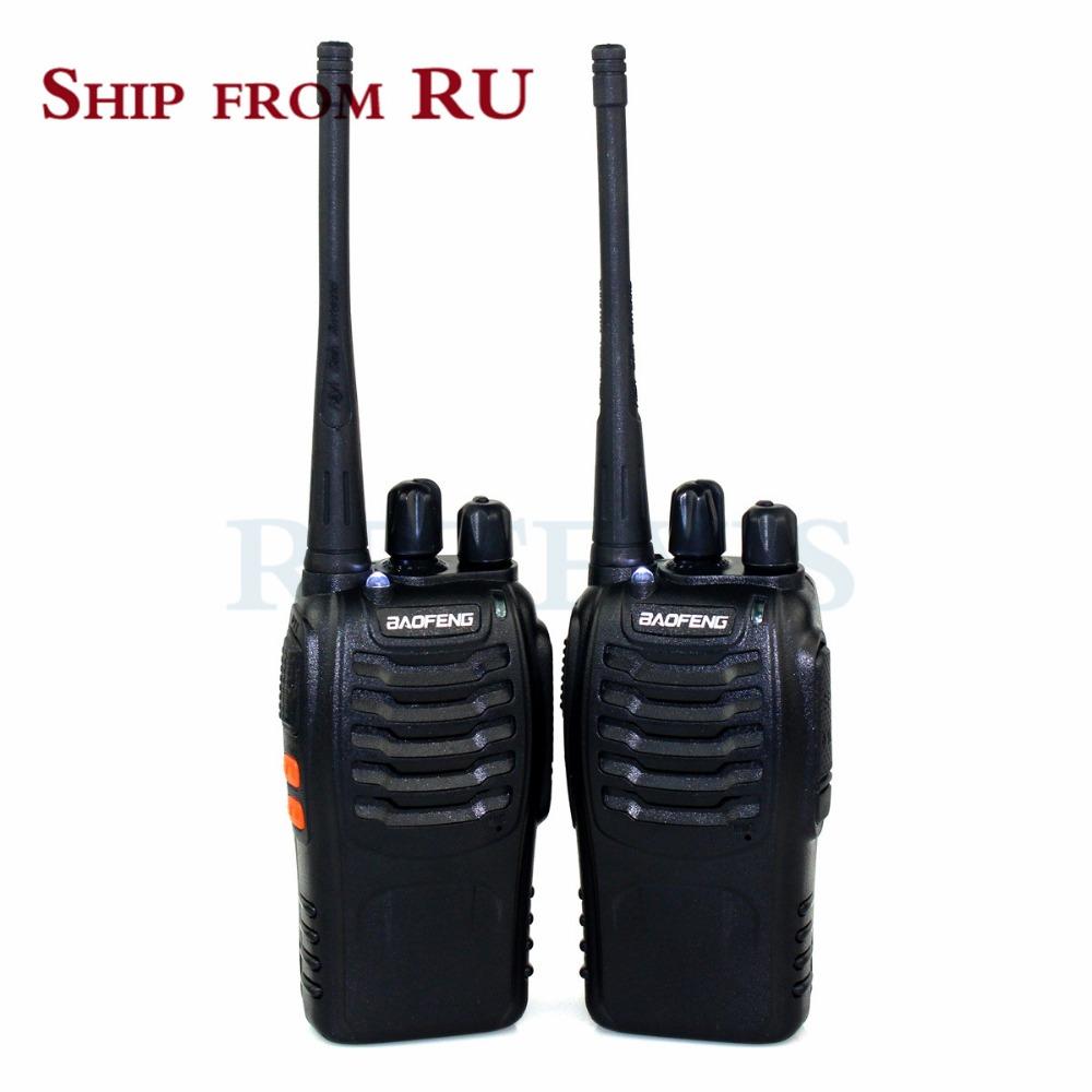 2XBaofeng 888S Walkie Talkie Portable Radio 5W 16CH Two Way Radio Ham Interphone BF-888S Hf Transceiver Interphone Moscow Ship