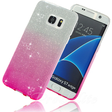 Buy Galaxy S7 Edge Case Glitter Bling Shinning Soft TPU Gradient Color Back Silicone Case Samsung Galaxy S7 A3 A5 2016 J5 J7 for $1.35 in AliExpress store