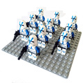 10pcs star wars minifigures captain rex clone wars blue clone trooper Building Block kylo ren white