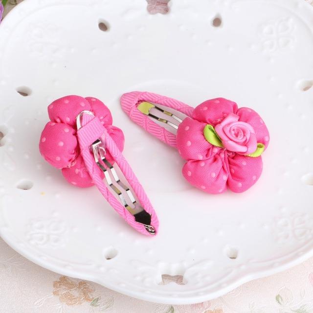 Новый Дизайн Симпатичные Красивая Точка Цветок Заколки 6*3 см Девушки Головные Уборы ...