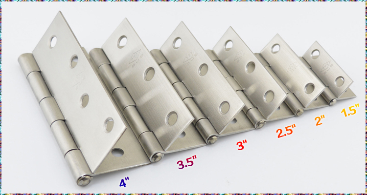 """2pcs 3.5"""" inch Window Door Butt Hinges Stainless Steel 201 Thickening Hinge for Cupboard Cabinet Furniture(China (Mainland))"""