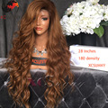 XCSUNNY 180 Density Full Lace Human Hair Wigs Two Tone Ombre 4 30 Color Lace Front