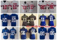 100% Stitiched,New York Giants,Eli Manning,Odell Beckham Jr,Victor Cruz,Lawrence Taylor,Phil Simms,women,for youth kids(China (Mainland))