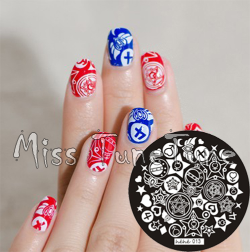 New Stamping Plate hehe13 Girly Jewelry Box Cartoon Sailor Moon Nail Art Stamp Template Image Transfer Stamp