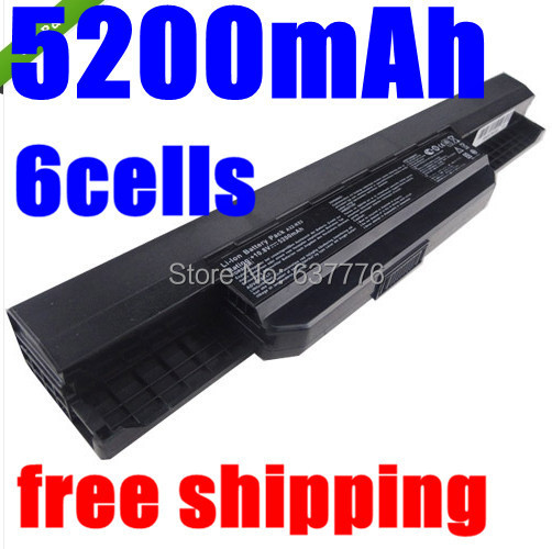 5200mAh Battery Asus X54H X53U X53S X53SV X84 X54 X43 A43 A53 K43 K53U K53T K53SV K53S K53E k53J K53 A53S A42-K53 A32-K53 - SUNWAY ELECTRONIC Store store