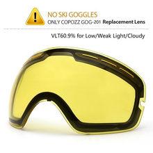 COPOZZ marka kayak gözlükleri erkekler kadınlar Snowboard gözlük gözlük kayak için UV400 koruma kar kayak gözlükleri anti-sis kayak maske(China)
