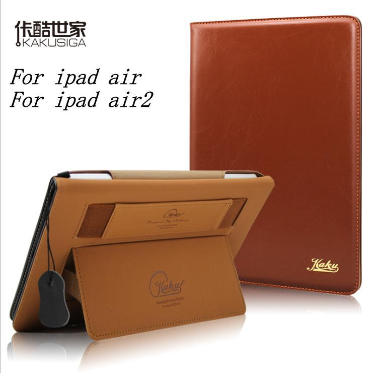 Гаджет  Original KAKU Ultrathin luxury retro Leather Case For iPad Air ipad 5 for iPad air 2 iPad 6 Smart Cover wakeup/sleep hold case  None Компьютер & сеть