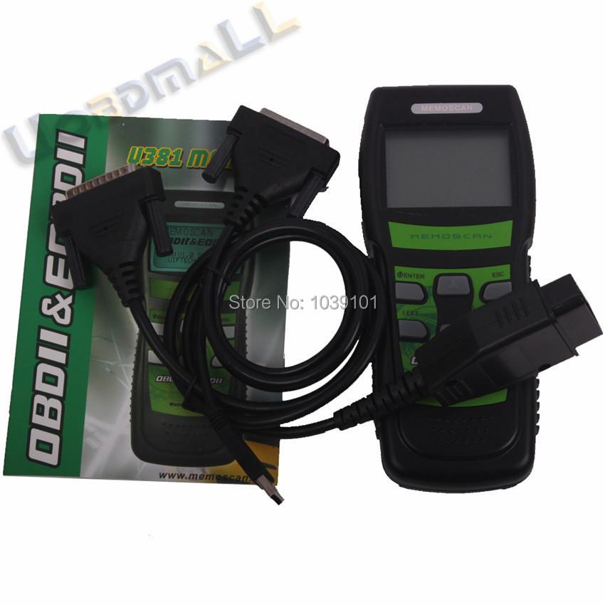 Memoscan U381 16-pin OBD2 OBDII LIVE DATA Scanner Automotive Diagnostic Fault Code Reader U381 scanner(China (Mainland))