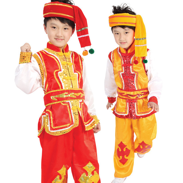 Dress miao clothing for boy modern hmong clothing children traditional