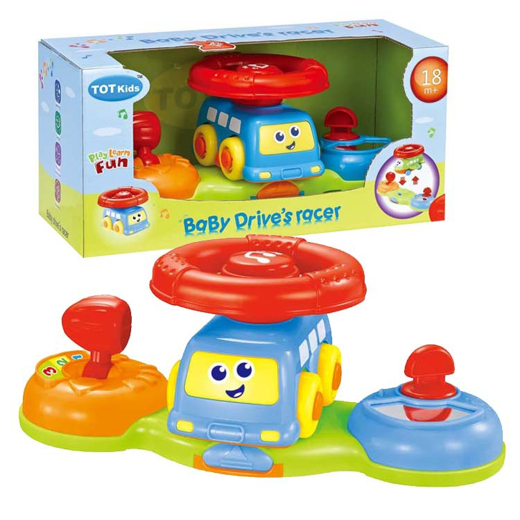 New baby educational toys big car steering wheel infant child driving Bus steering wheel glide music combination(China (Mainland))