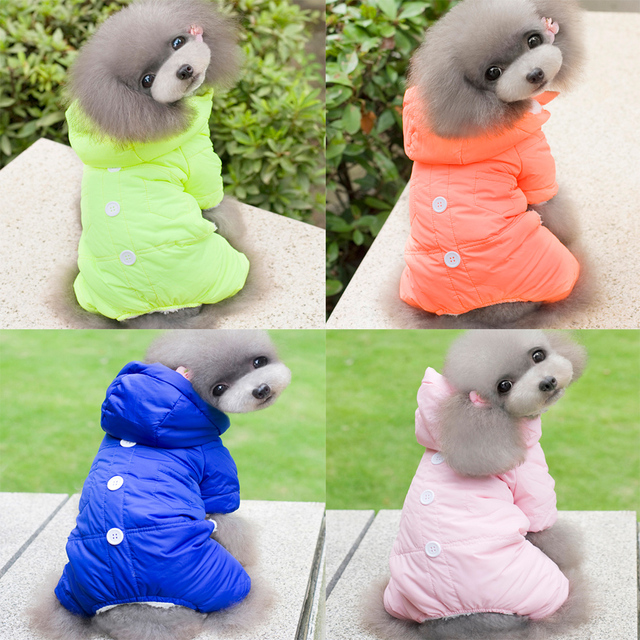 2015 New Fleece Pet Dog Cat Costume Solid Warm Autumn Winter Dogs Clothes Sweater Coat Cute Jumpsuit Four Leg Clothing For Dogs