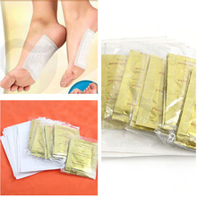 10 PCS GOLD Premium Kinoki Detox Foot Pads Organic Herbal Cleansing Patches Free Shipping #M01024