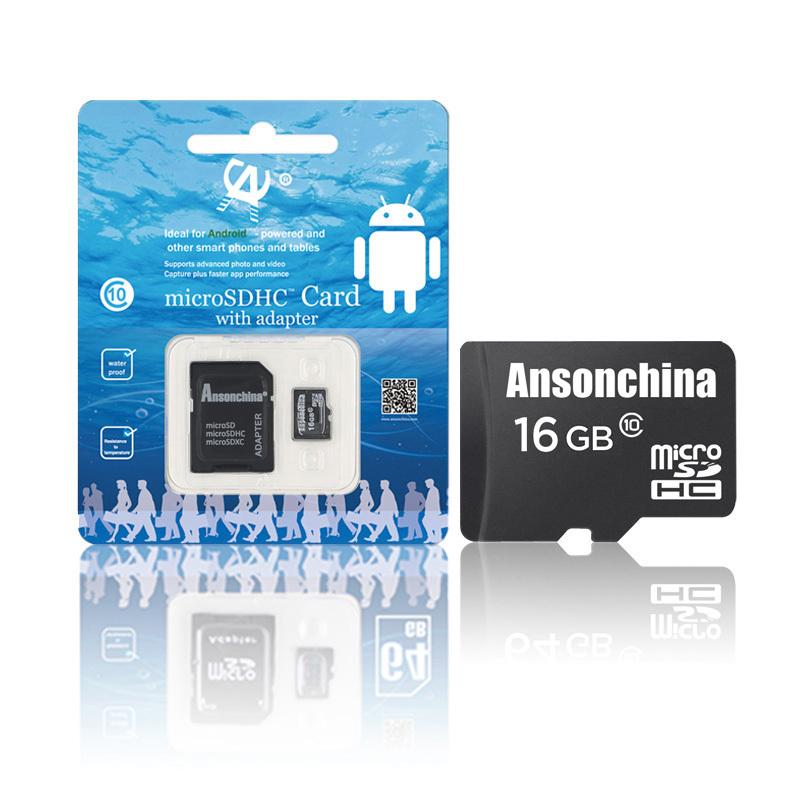 100 pass H2testw class 10 real capacity 64GB16GB Micro SD card SDHC Transflash TF Memory card