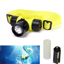 Waterpoof CREE Q5 LED Diver Diving Light Underwater Head Lamp Light Swimming Frontal Outdoor Flashlight White Lighting