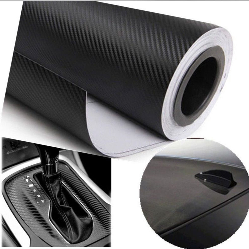 30x127cm 3D Carbon Fiber Vinyl Car Wrap Sheet Roll Film Sticker Decal Sales car styling accessories 8 color option free shipping(China (Mainland))