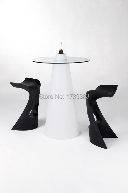 D42*H80 Waterproof LED illuminated cocktail table for coffee station/Party/Hotel/ creative luminous LED Mountain Top Bar Table(China (Mainland))