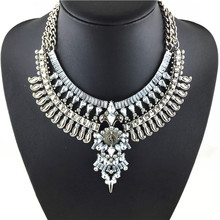 2015 Hot New  Spring Vintage Necklaces & Pendants Fashion  Big Collar Necklace Gold Necklace Crystal Jewelry Statement Necklace