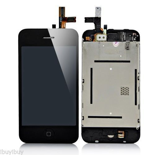 GOOD Quality A lcd display touch digitizer screen assembly part black for iPhone 3g 3gs free shipping low cost good quality(China (Mainland))