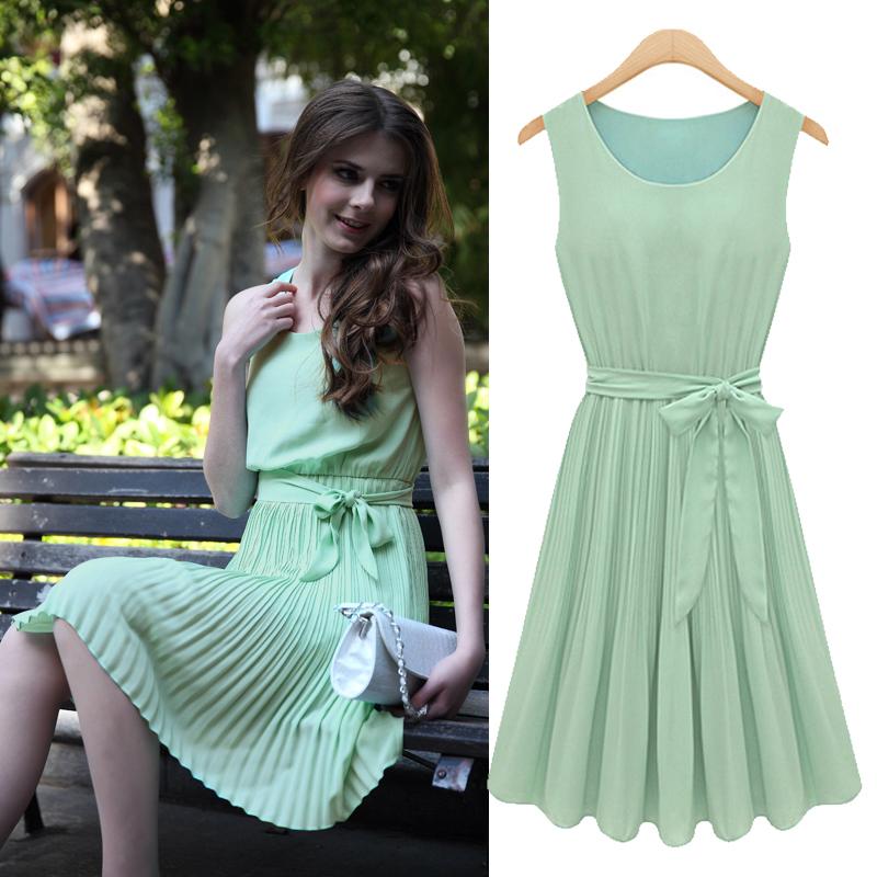 casual chiffon dresses - Dress Yp