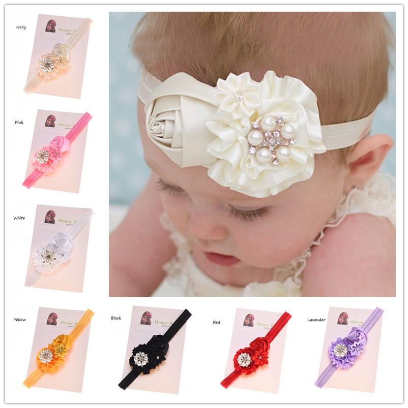1PCS Baby Casual Hair Headband Flower Rosette Headbands Hair Accessories Hairbow Headband Cheap Flower Headband(China (Mainland))