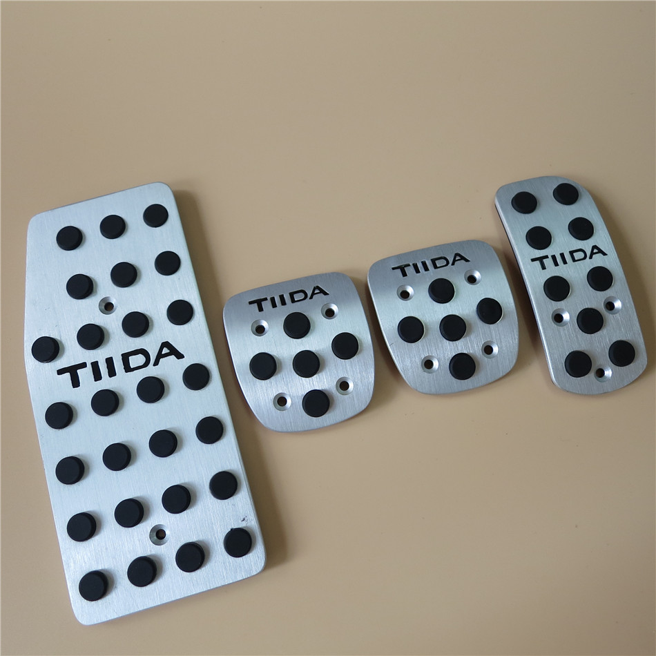 For Nissan Tiida 2006-2009 Fuel Brake Foot Rest AT/MT pedals Plate Non slip Accelerator brake pedal Pads,Car Styling(China (Mainland))