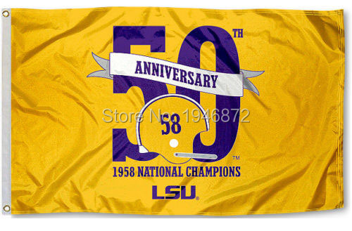 LSU Tigers 1958 National Champions 3x5 Feet Flag Custom Flag USA Team Flag(China (Mainland))