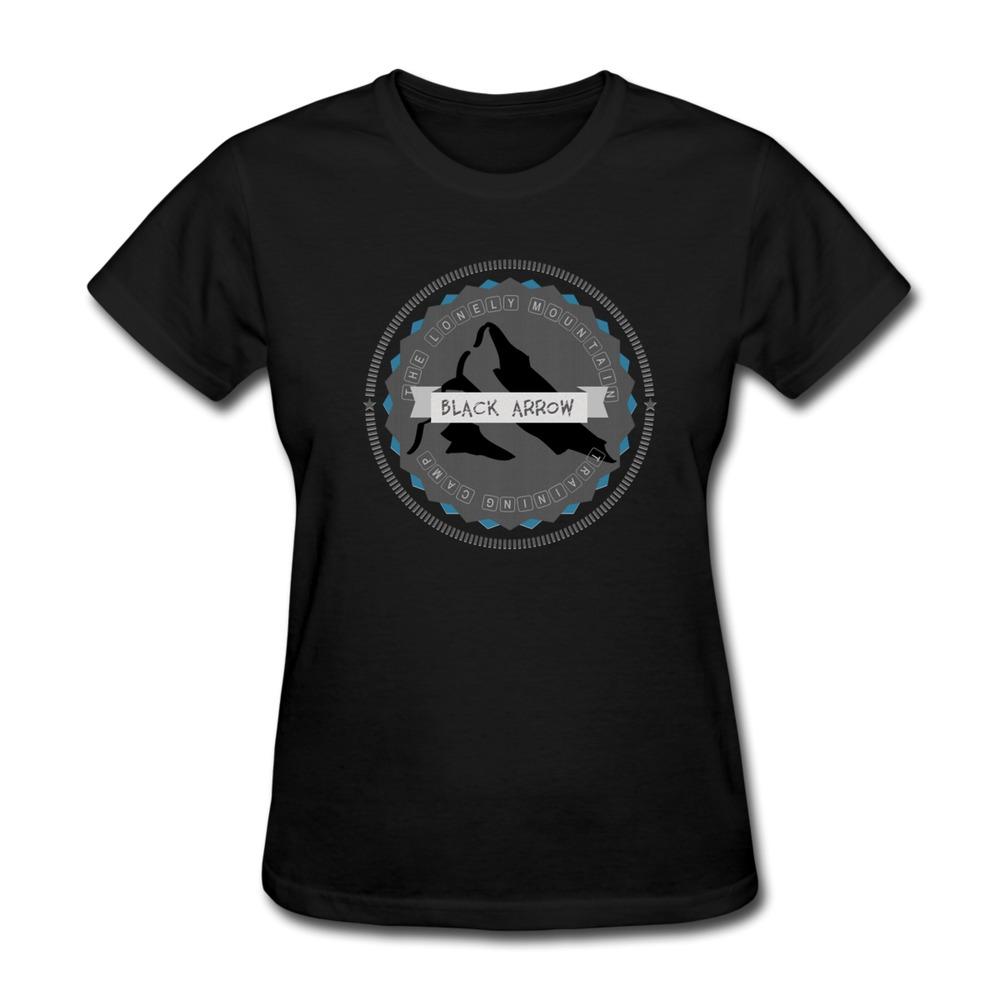 Casual Women T Shirt Dwarves training Camp Geek Logo Women TeeShirts(China (Mainland))