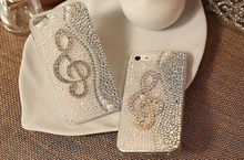 Buy New Arrival Hard Back Cover Crystal Bling Pearls Rhinestone Diamond Musical Note Case Samsung Galaxy A3 2016 A5 2016 A7 2016 for $7.99 in AliExpress store