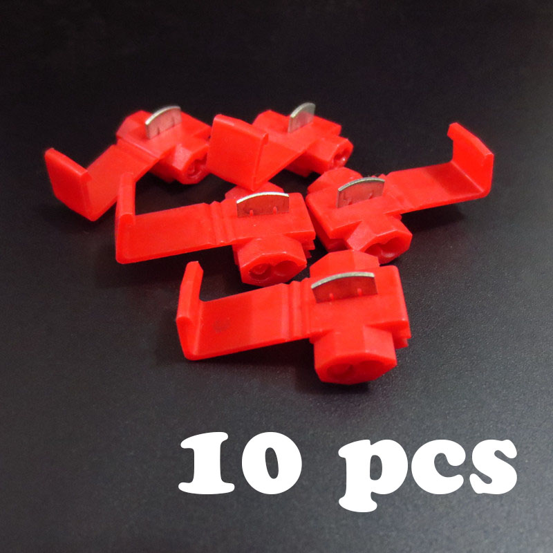 10 pcs Wire terminals quick wiring connector cable clamp AWG 22-18 801p quick connection clip wire stripping free card buckle(China (Mainland))