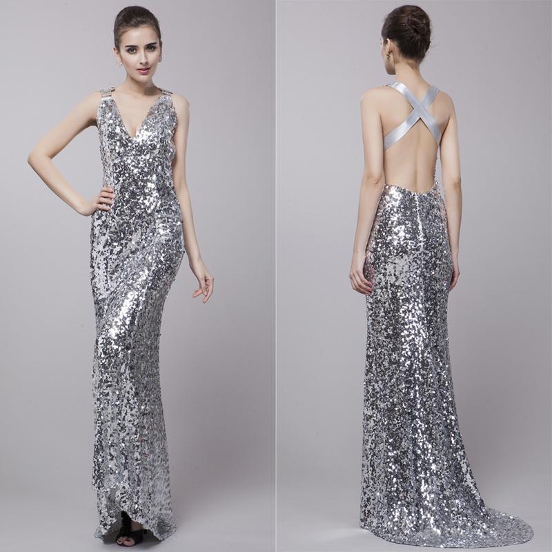 Long silver dress - Long dress style