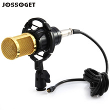 BM800 Professional Condenser Microphone For Sound Recording with Shock Mount for Radio Braodcasting Bass-reduction Singing Black