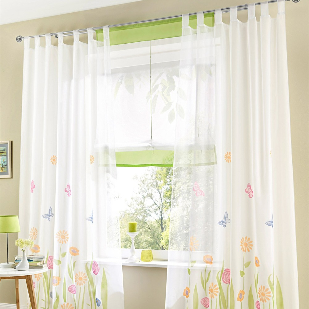 Sheer fabric drapes promotion shop for promotional sheer for Cortinas para cocina fotos