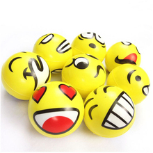 Hot Sale Squeeze Relief Hand Massage Relaxation Ball Smiley Face Anti Stress Reliever Ball ADHD Autism Mood Toy(China (Mainland))